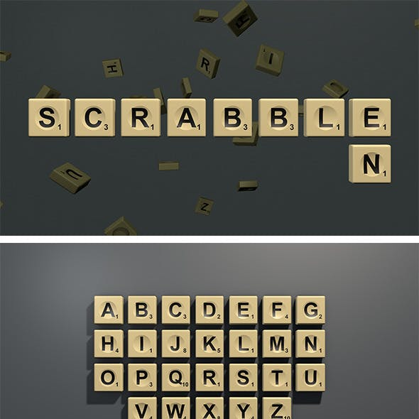 Scrabble letter tiles in English