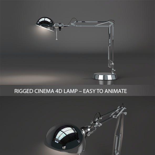 Rigged Cinema 4D Lamp