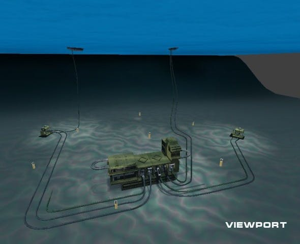 subsea oil or gaz production - 3DOcean Item for Sale