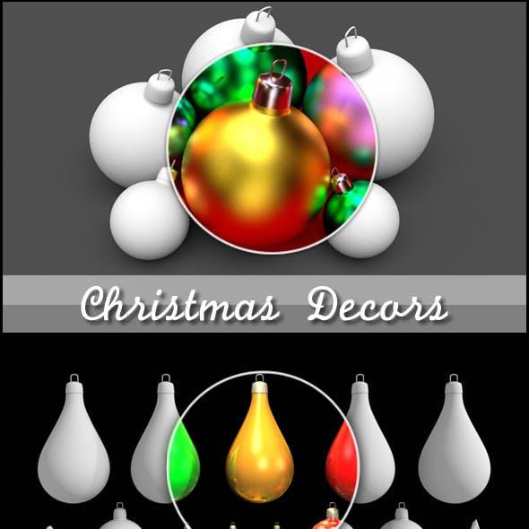 Christmas Decors Balls and Stars