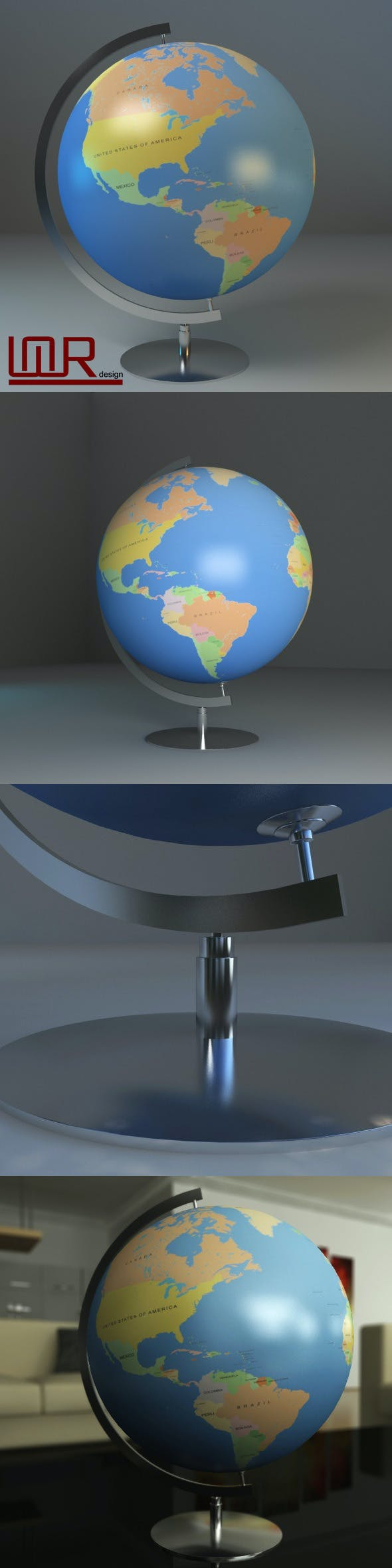 Earth Globe (World Map) - 3DOcean Item for Sale