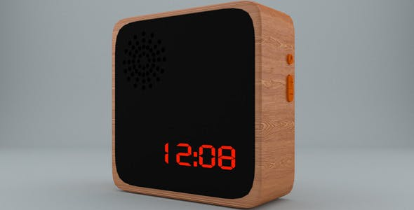 Wooden Alarm Clock - 3DOcean Item for Sale