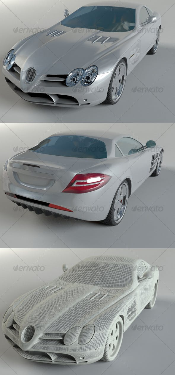 Mercedes SLR McLaren - 3DOcean Item for Sale