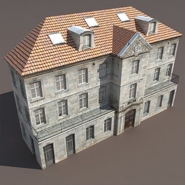 Apartment House #122 Low Poly 3d Model - 3DOcean Item for Sale