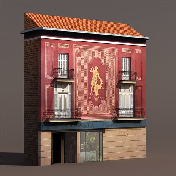 Apartment House #140 Low poly 3d Model - 3DOcean Item for Sale