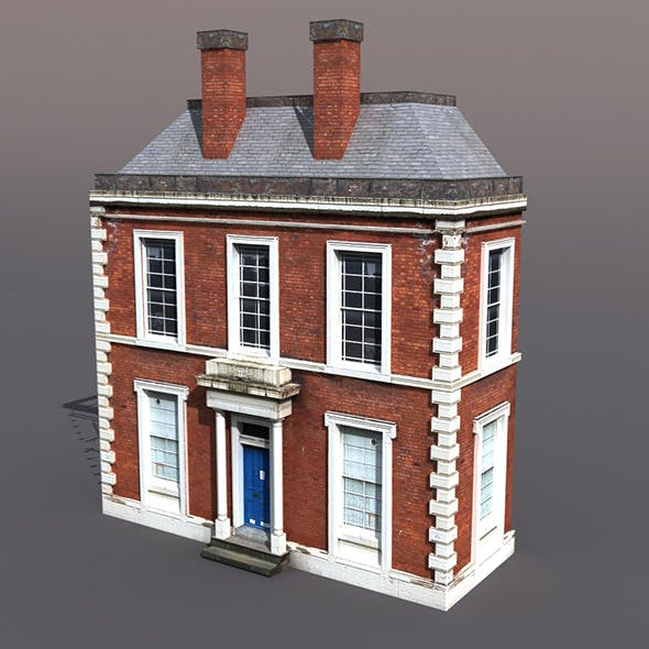 Apartment house #42 Low Poly 3d Model