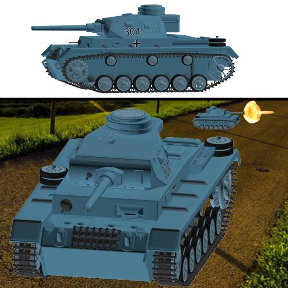T-3 german tank. - 3DOcean Item for Sale