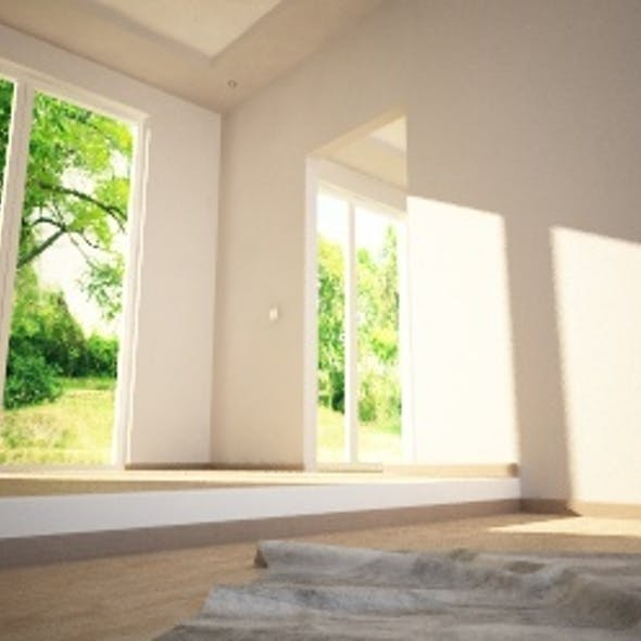 ROOM C4D VRAY with light and background