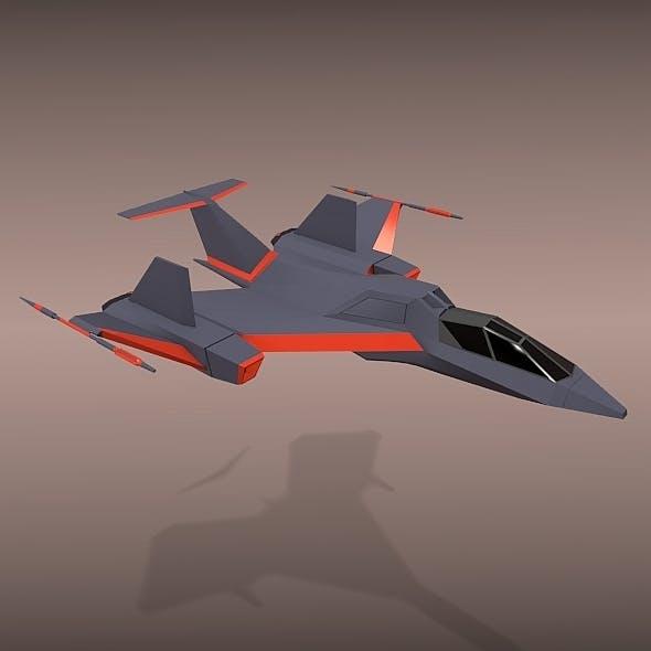 Futuristic spacecraft concept