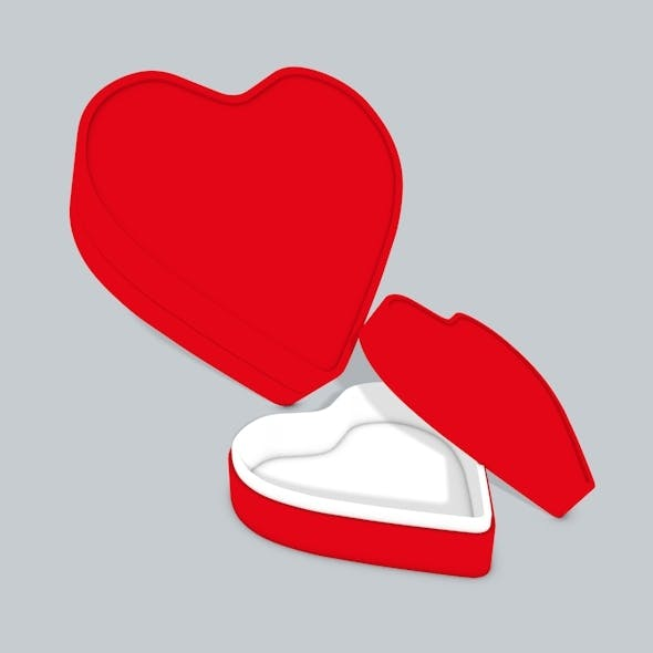 3D Heart box - 3DOcean Item for Sale