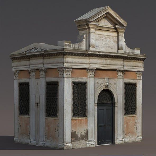 Church Portal Low Poly 3d Model