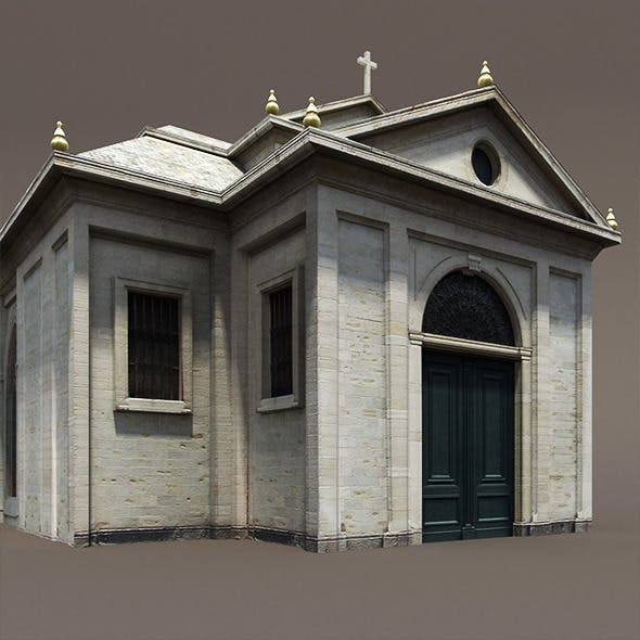 Church Roman #84 Low Poly 3d Model