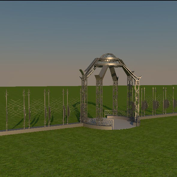 Original Metal Arch - 3DOcean Item for Sale