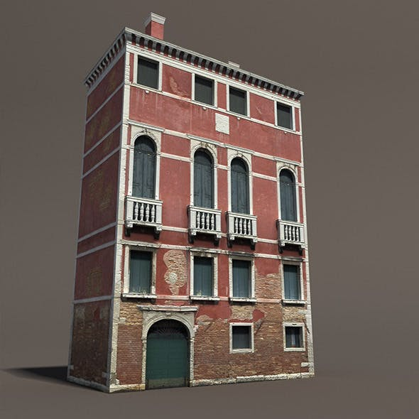 Venice Building #133 Low Poly Building