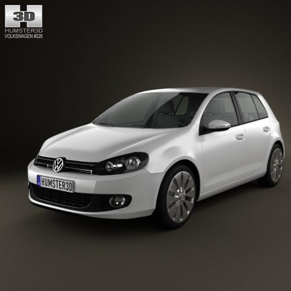 Volkswagen Golf 5door 2009 - 3DOcean Item for Sale