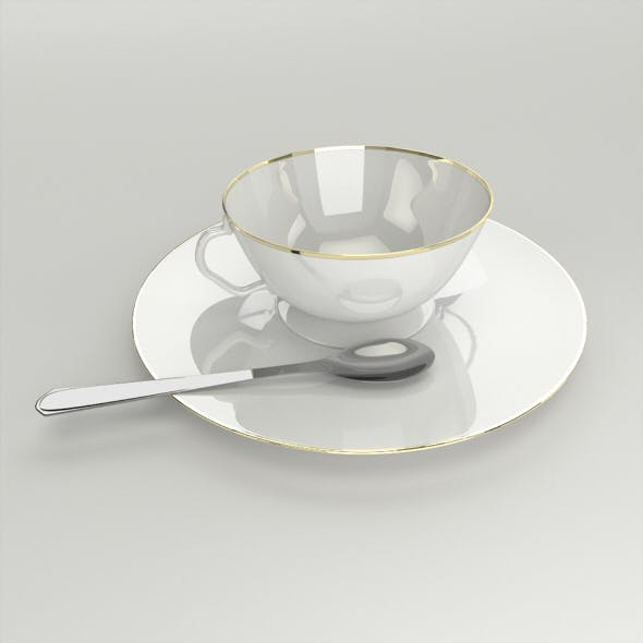 Teacup, Plate and a Spoon
