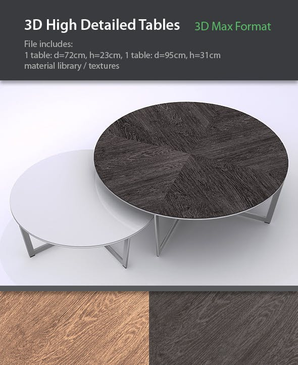 Set of Designer Tables - 3DOcean Item for Sale