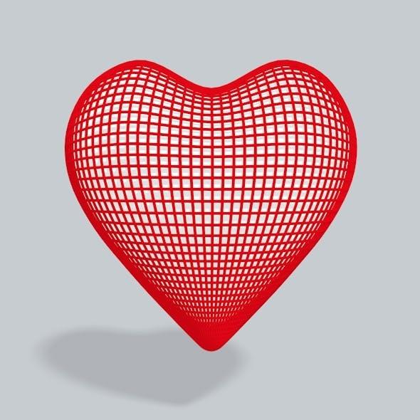 3D Heart square - 3DOcean Item for Sale