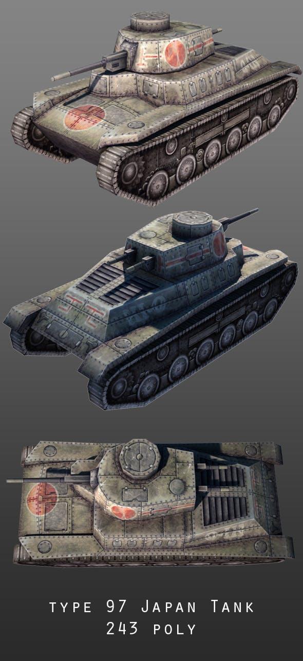 Type 97 Japan Tank - 3DOcean Item for Sale