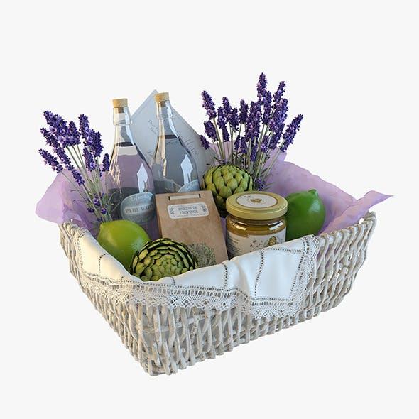 Provence decor basket - 3DOcean Item for Sale