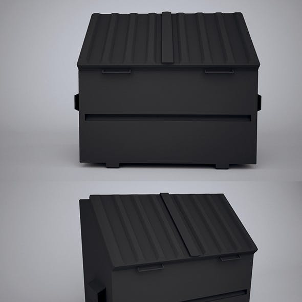 Low Poly Waste Container