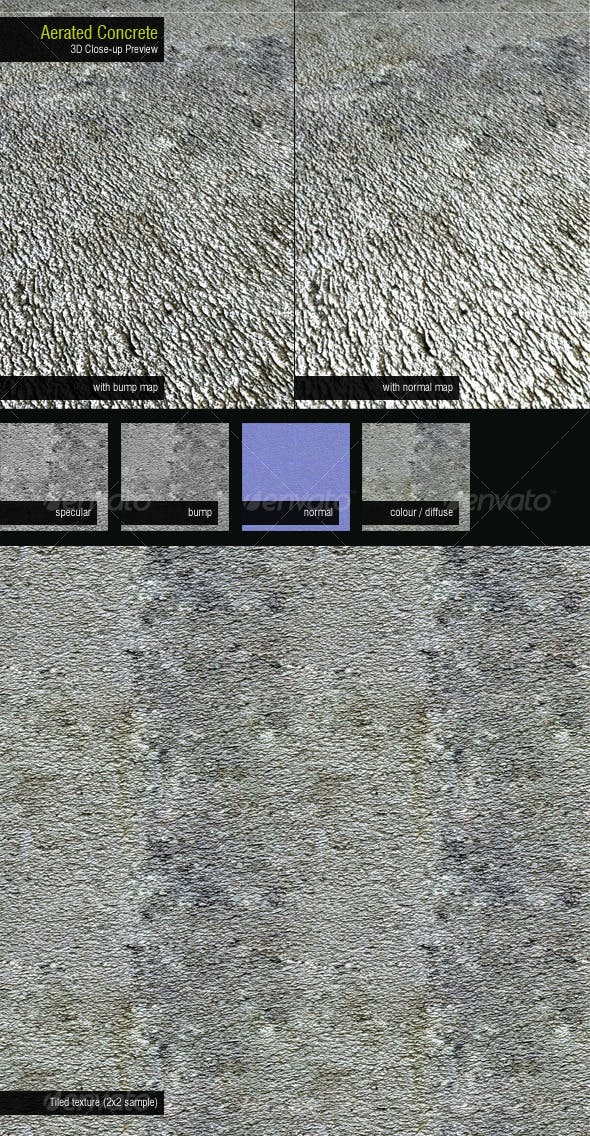 Aerated Concrete - 3DOcean Item for Sale