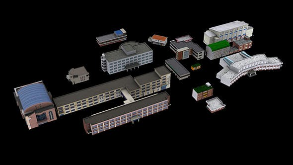 Building Package_A13 - 3DOcean Item for Sale