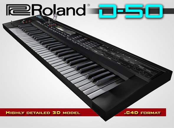 Roland D-50 Digital Synthesizer - 3DOcean Item for Sale