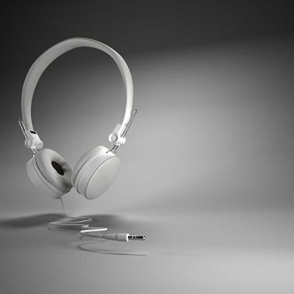 Maya 3D White Headset  Model