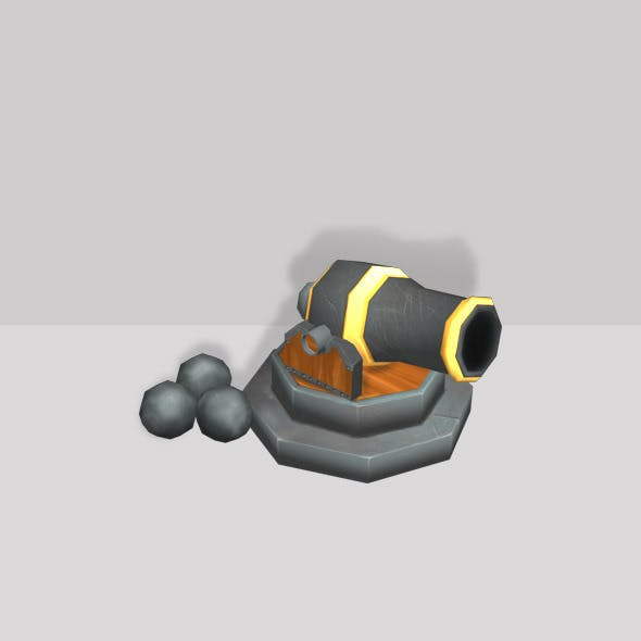 Canon Low Poly - 3DOcean Item for Sale