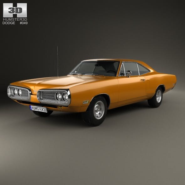 Dodge Coronet hardtop coupe 1970 - 3DOcean Item for Sale