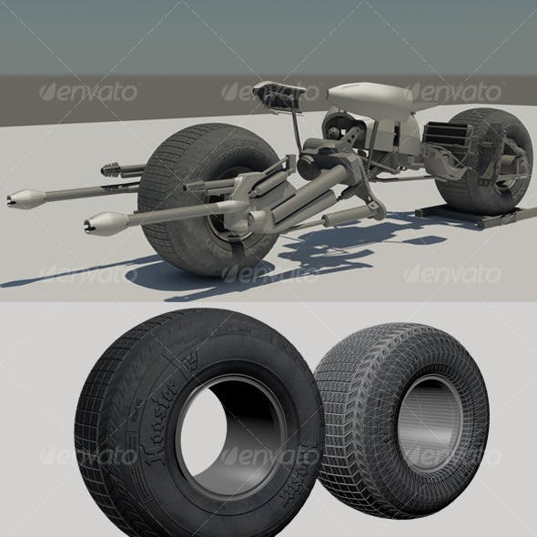 Batpod 3d Model + Shaders