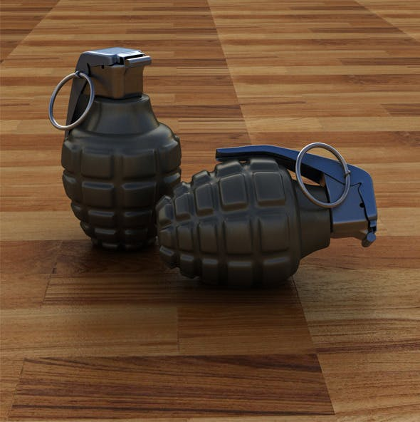 High Poly Hand Grenade - 3DOcean Item for Sale
