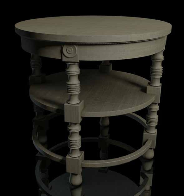 Coffee Table 19th Century - 3DOcean Item for Sale