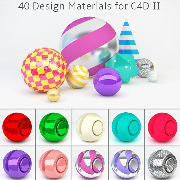 40 Design Materials for C4D II