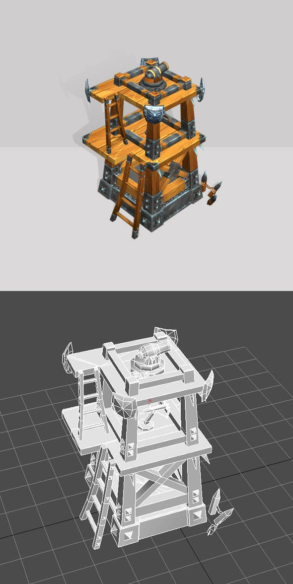 Wooden Tower lvl3 - 3DOcean Item for Sale