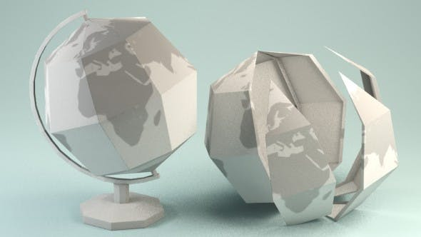 Paper Globe - 3DOcean Item for Sale