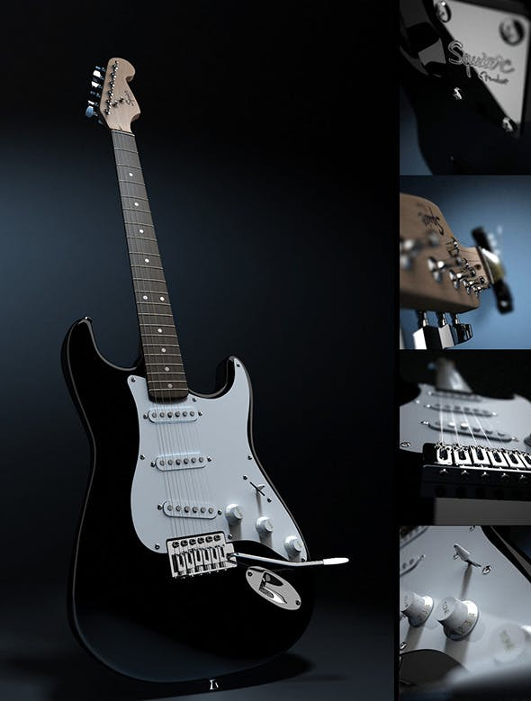 Fender by Squier Stratocaster - 3DOcean Item for Sale