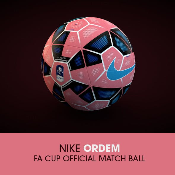 Nike Ordem FA Cup 2015 Official ball - 3DOcean Item for Sale