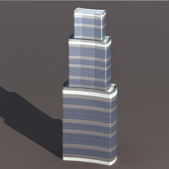 Skyscraper #8 Low Poly 3d Model