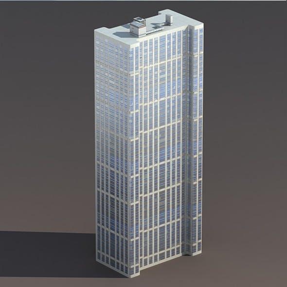 Skyscraper #6 Low Poly 3D Model - 3DOcean Item for Sale