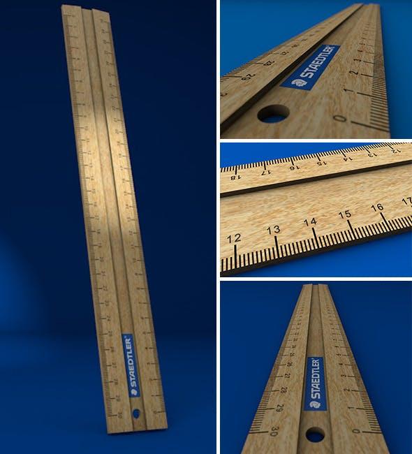 Wooden Ruler - 3DOcean Item for Sale