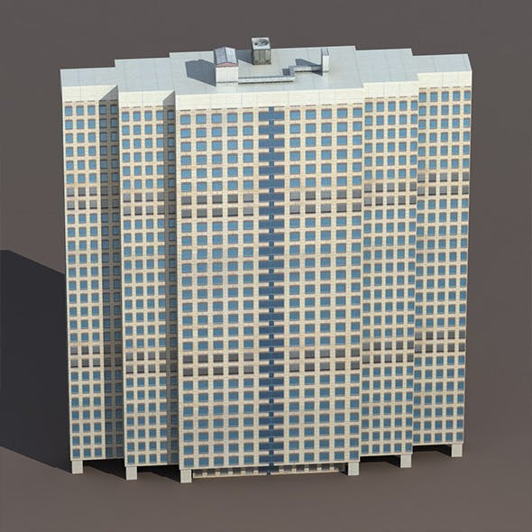 Skyscraper #5 Low Poly 3D Building - 3DOcean Item for Sale