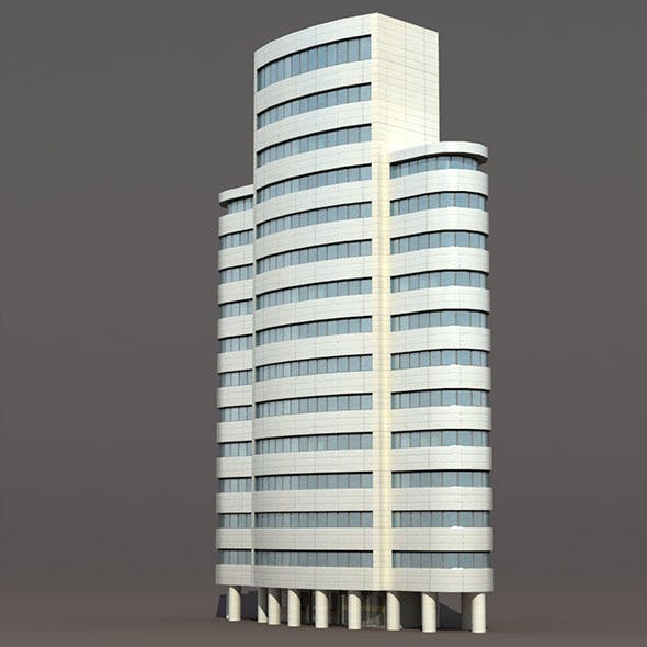 Skyscraper #4 Low Poly 3d Building