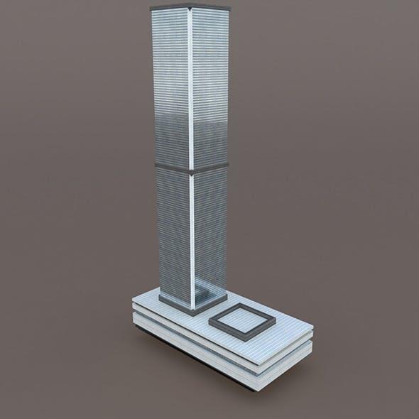Skyscraper #3 Low Poly 3d Model