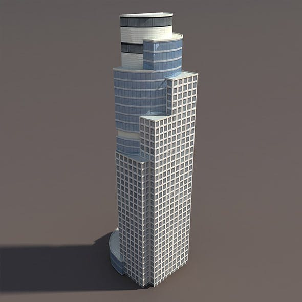 Skyscraper #2 Low Poly 3d Model by Cerebrate | 3DOcean