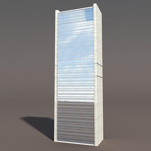 Skyscraper #1 Low poly 3d Model