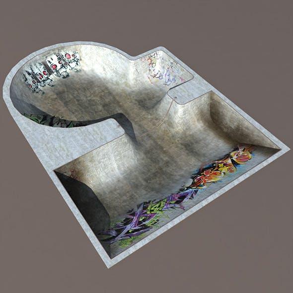 Skate Swimming Pool Low poly 3d Model