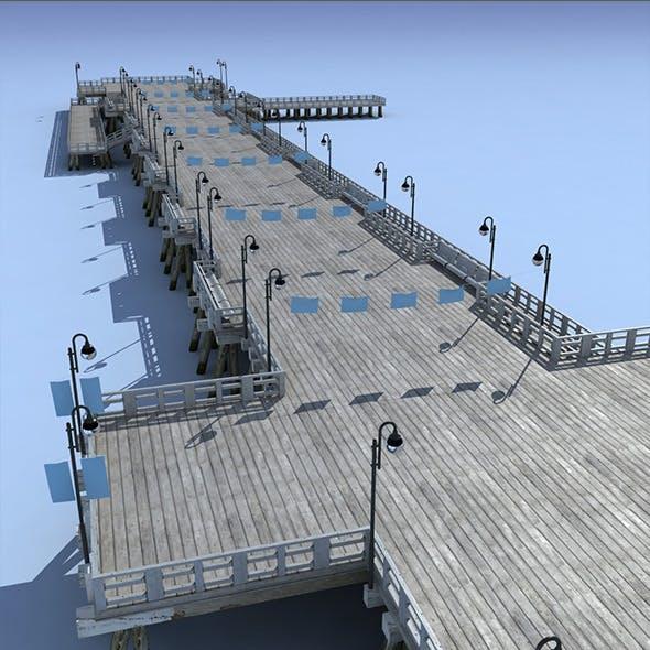 Pier Bridge Low Poly 3d Model - 3DOcean Item for Sale
