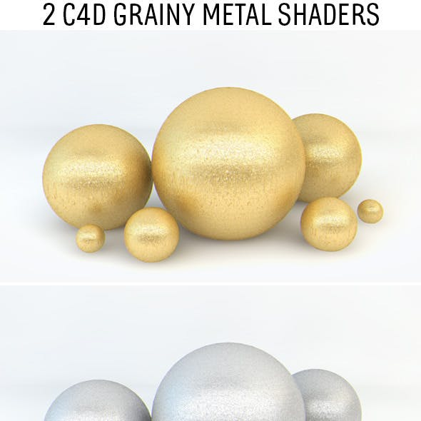 Grainy Metal Shaders for C4D